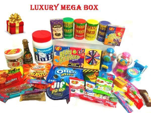 СВИТБОКС Luxury Mega Box - Мега набор сладостей из США лимитированная премиум-серия