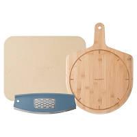 3950036 Набор для пиццы: лопата, поверхность для приготовления и чем-лезвие для пиццы с теркой для сыра
