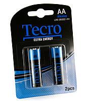 Батарейка AA (LR6), щелочная, Tecro, 2 шт, 1.5V, Blister (LR6-2B(EE))