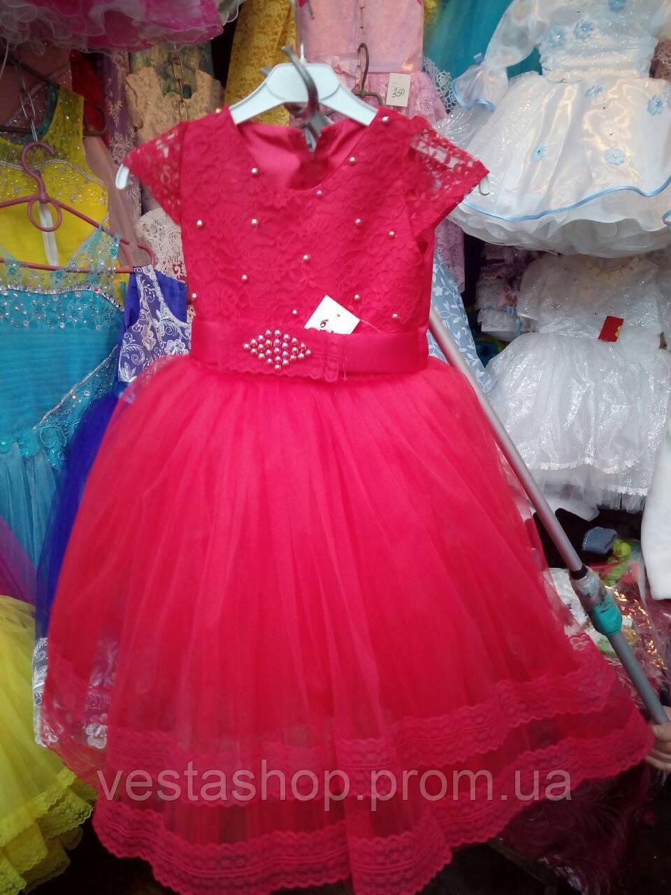 8e47e6ba85fad2d Детское платье из фатина красного цвета 2-5 лет -