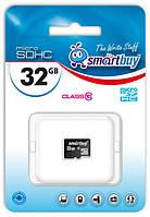 Карта памяти microSDHC, 32Gb, Class10, SmartBuy, без адаптера (SB32GBSDCL10-00)