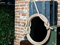 Настенное круглое зеркало на канатах Rope-Loft