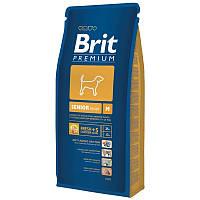 Сухой корм 15 кг для стареющих собак средних пород Брит Премиум / Senior M Brit Premium