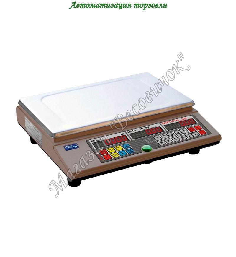 Весы настольные с аккумулятором без стойки ВТА 30 кг (220*340мм)