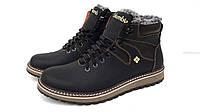Ботинки зимние мужские на меху columbia коламбия черные