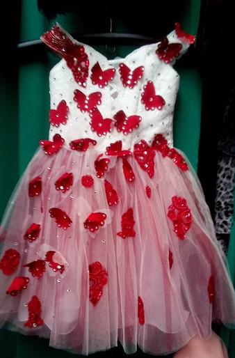 Бальное красивое детское платье Бабочка