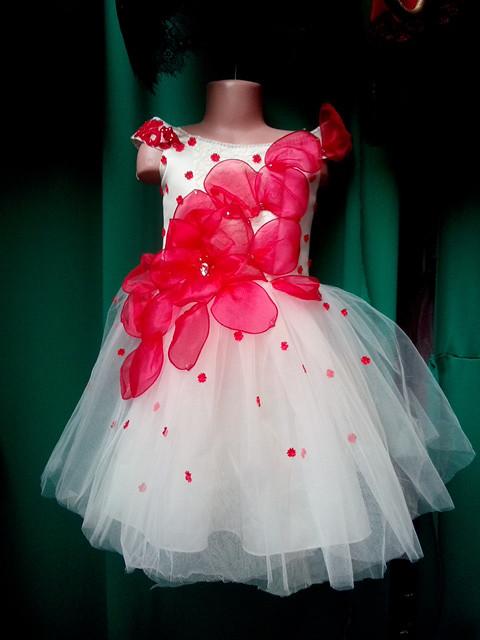 Бальное детское платье Цветок