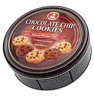 Печенье ассорти с кусочками шоколада Chocolate chip cookies Patisserie Matheo, 454 гр, ж\б