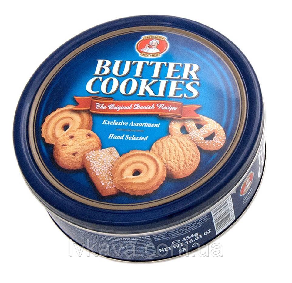 Печенье ассорти Butter cookies Patisserie Matheo, 454 гр, ж\б