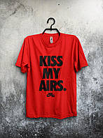 Футболка мужская Nike Kiss My Airs (красный), Реплика