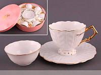 Чайный набор Lefard Золотая волна на 18 предметов  81-304