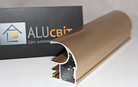 Вертикальный C - профиль Лайт золото глянец купе ручка открытый