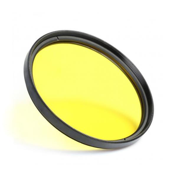 Цветной фильтр 55 мм жёлтый.