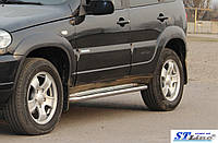 Niva Chevrolet ((10 + )Bertone) пороги площадка   d60х2мм