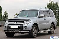Mitsubishi Pajero Wagon 4 (06+) обводка штатного порога, d40