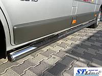 Opel Vivaro (01-13) пороги трубы з накладками   d60х2мм
