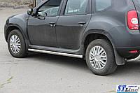 Renault Duster (09+) пороги трубы   d60х2мм
