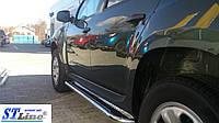 Renault Duster (09+) пороги площадка   d60х2мм