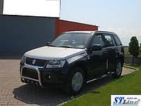 Suzuki Grand Vitara II (05-12) пороги трубы з накладками   d60х2мм