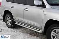 Toyota Land Cruiser 200 (07+) пороги площадка   d60х2мм