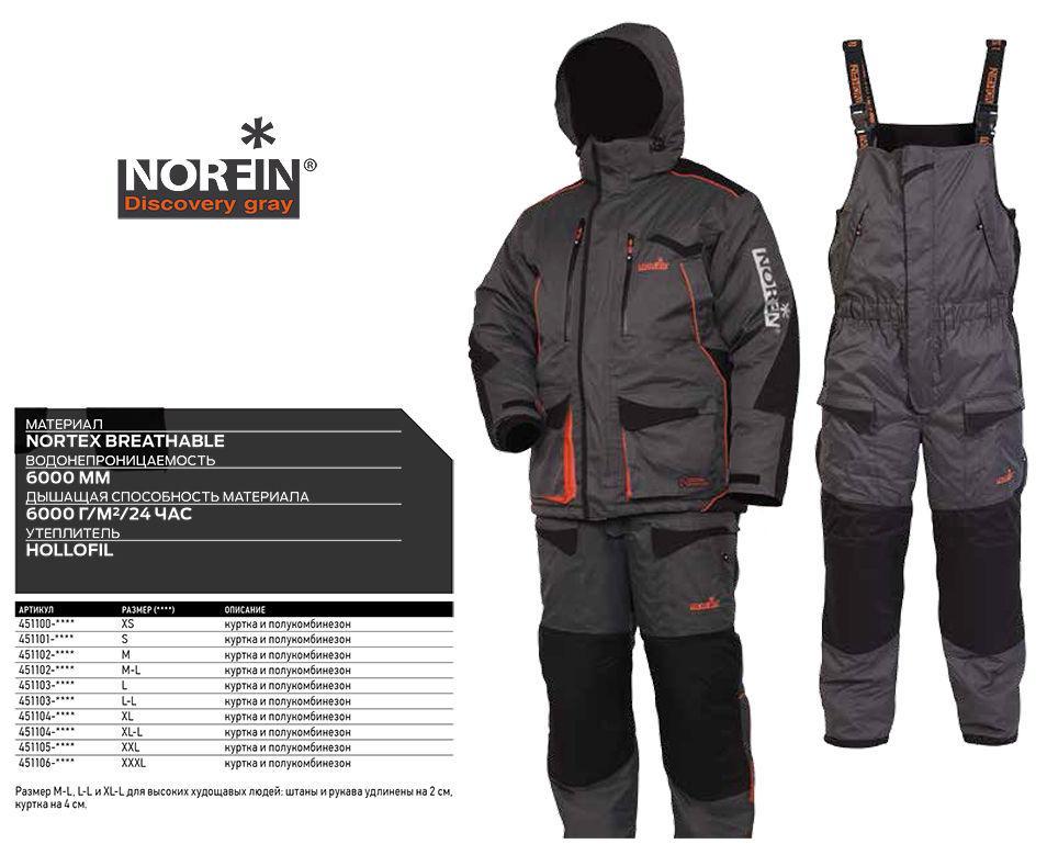 Зимний костюм Norfin Discovery Gray размер L