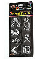 Набор металлических головоломок 7 в 1 Metal Puzzle P2615, в ассортименте