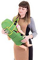Кенгуру для детей Умка 8 с капюшоном зеленый