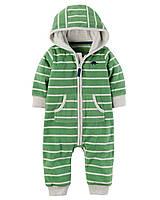 Флисовый зеленый комбинезон с нашивкой Динозавра Carter's для мальчика