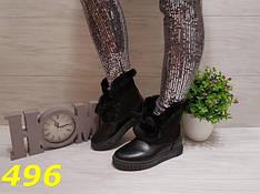 Женские зимние ботинки с опушкой УШКИ, р.36-41