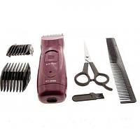 Беспроводная машинка для стрижки волос; 2 съемные двухсторонние насадки; RC-2000