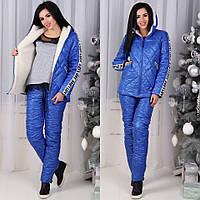 Зимний женский спортивный костюм на меху / тёплый лыжный костюм по цене производителя, фото 1