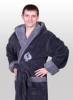 Турецкий мужской халат с капюшоном
