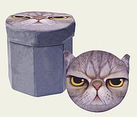 Корзина-пуфик для игрушек 3D-1702 (в пакете 30*30*29см)