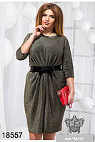 Вечернее платье с люрексом 48 по 58 размер 2 цвета