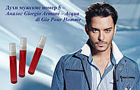 ЛЮКС Копии. Стойкость до 12 ч!!! ФранцияДухи мужские номер 5 – аналог Giorgio Armani – Acqua di Gio Pour Homme