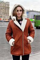 Женская зимняя парка(куртка) на натуральной овчине