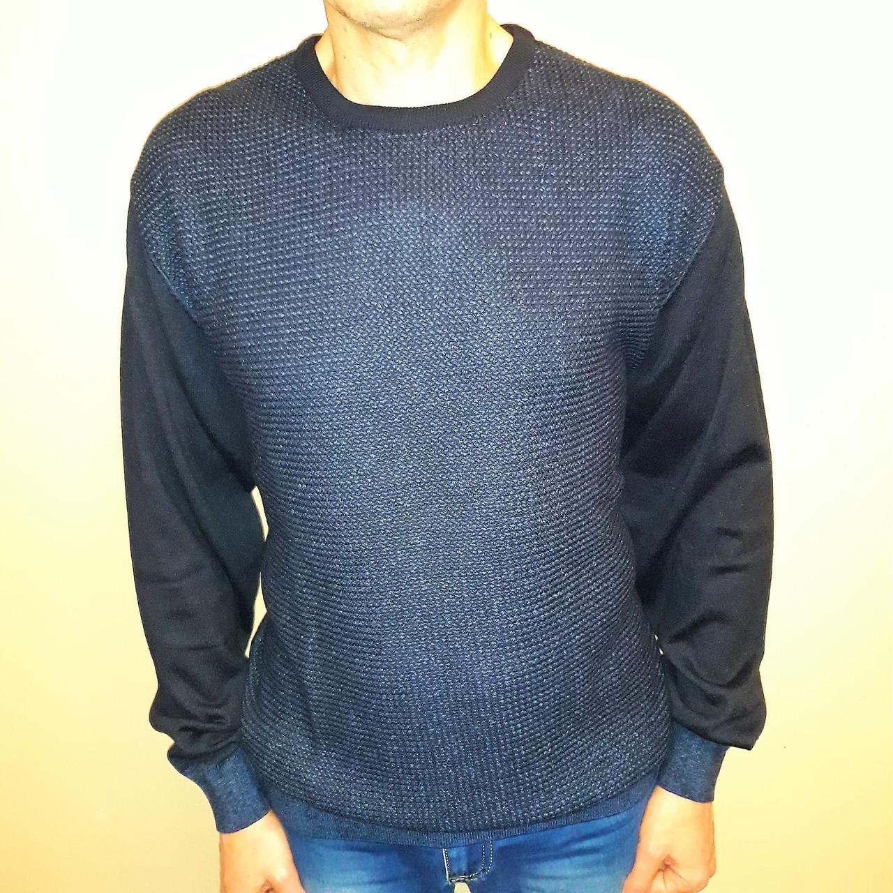Мужской темно-синий свитер Tony Montana большого размера