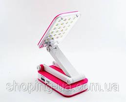 Настольная аккумуляторная лампа-трансформер розовая Tiross TS55, фото 2