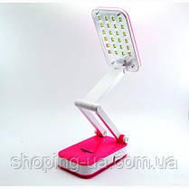 Настольная аккумуляторная лампа-трансформер розовая Tiross TS55, фото 3