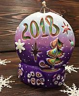 Свеча ручной работы, подарок на новый год или рождество, резная