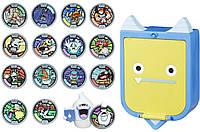 Подарочный набор Йо кай с 15 медалями, эксклюзивной фигуркой и шкатулкой, Yo-Kai Watch Pad Set, Hasbro из США