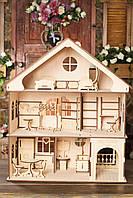 Домик для куклы большой.Три этажа