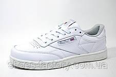 Классические женские кроссовки в стиле Reebok Club C 85 Leather, Белые, фото 2