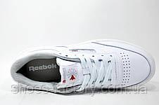 Классические женские кроссовки в стиле Reebok Club C 85 Leather, Белые, фото 3