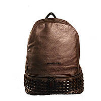 Рюкзак молодежный для учебы и города Michael Kors копия GS109 Бронзовый