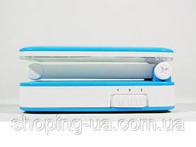 Настольная аккумуляторная лампа-трансформер голубая Tiross TS55, фото 3