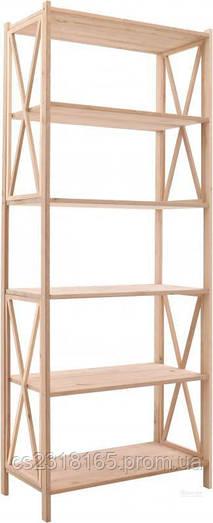 Стеллаж деревянный Прованс 197*80*40см, 6 полок
