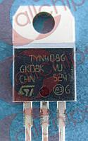 Тиристор 8А 400В ST TYN408G TO220