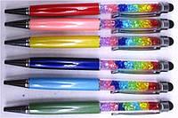 """Ручка шариковая 473 цветные стразы """"Touch pen Сваровски"""" поворотка, латунь, 6цветов уп24"""