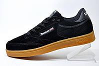 Классические мужские кроссовки Reebok Club C 85 Leather, Black